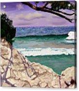 Blue Lagoon Rocks Acrylic Print