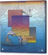 Blue Lagoon Sunrise  Acrylic Print