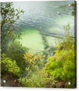Blue Lake Stradbroke Island Acrylic Print