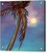 Blue Night Palm Acrylic Print