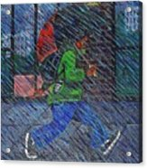 Blue Rain Acrylic Print