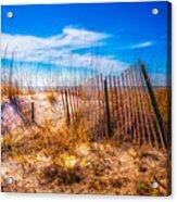 Blue Sky Over The Dunes Acrylic Print