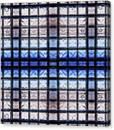 Blue Toned Glass Brick Window Abstract  Acrylic Print