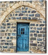 Blue Traditional Door Acrylic Print