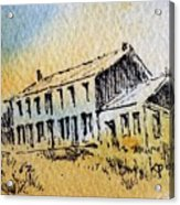 Boardinghouse Cable Ghost Town Montana Acrylic Print