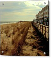 Boardwalk In Winter Acrylic Print