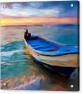 Boat On Beach Acrylic Print