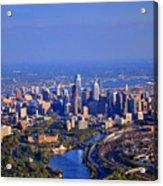 1 Boathouse Row Philadelphia Pa Skyline Aerial Photograph Acrylic Print