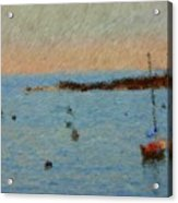 Boats At Smugglers Cove Boothbay Harbor Maine Acrylic Print