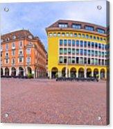 Bolzano Main Square Waltherplatz Panoramic View Acrylic Print
