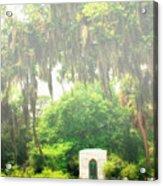 Bonaventure Cemetery Savannah Ga Acrylic Print by William Dey