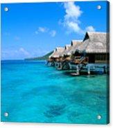 Bora Bora Lagoon Resort Acrylic Print