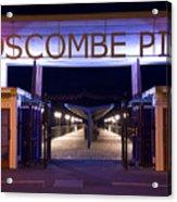Boscombe Pier At Night Acrylic Print