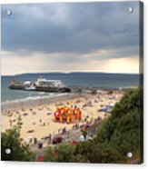 Bournemouth Pier And Beach Acrylic Print