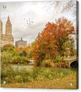 Bow Bridge In Autumn Acrylic Print