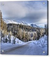Bow Valley Parkway Winter Conditions Acrylic Print