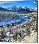 Bow Valley Winter View Acrylic Print