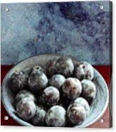 Bowl Of Plums Still Life Acrylic Print