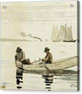 Boys Fishing Acrylic Print