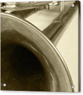 Brass Trumpet Bell And Tubing Acrylic Print