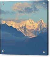 Breathtaking Landscape Of The Dolomites Mountains In Italy  Acrylic Print