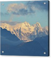 Breathtaking Scenic View Of The Alps In Italy  Acrylic Print
