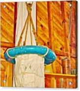 Breeches Buoy In Sleeping Bear Point Boathouse In Sleeping Bear Dunes National Lakeshore-michigan Acrylic Print