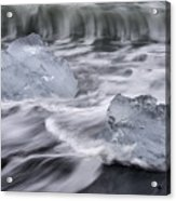 Brethamerkursandur Iceberg Beach Iceland 2588 Acrylic Print