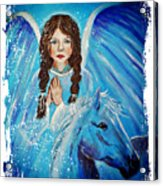 Brianna Little Angel Of Strength And Courage Acrylic Print