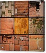 Bricks Collage  Acrylic Print