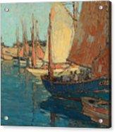 Brittany Boats Acrylic Print