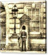 Buckingham Palace Queens Guard Vintage Acrylic Print