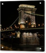 Budapest At Night. Acrylic Print