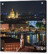 Budapest, Danube River, Hungary Acrylic Print