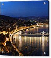 Budapest. View From Gellert Hill Acrylic Print by Michal Bednarek