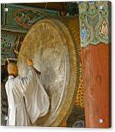Buddhist Monk Drumming Acrylic Print