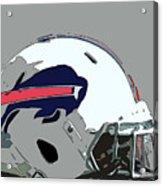 Buffalo Bills Football Team Ball And Typography Acrylic Print