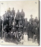 Buffalo Soldiers Of The 25th Infantry Acrylic Print by Everett