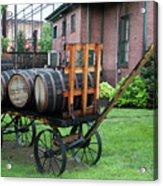 Buffalo Trace Barrel Wagon Acrylic Print