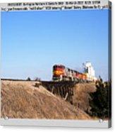 Burlington Northern Santa Fe Bnsf - Railimages@aol.com Acrylic Print