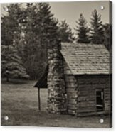 Cabin On The Blue Ridge Parkway - 15 Acrylic Print