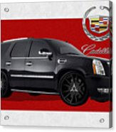 Cadillac Escalade With 3 D Badge  Acrylic Print