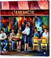 Cafe In Paris Acrylic Print