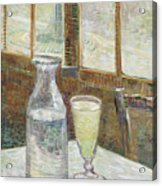 Cafe Table With Absinthe Acrylic Print