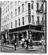 caffe napoli on the corner of mulberry street and hester st  little italy New York City USA Acrylic Print