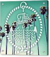 California Palms I Acrylic Print