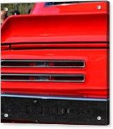 Firebird Tail Light Acrylic Print
