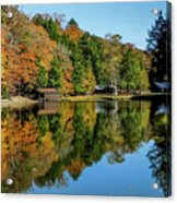 Camp Blanton Autumns Reflection Acrylic Print