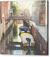 Canals Of Venice With Instagram Vintage Style Filter Acrylic Print