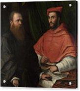 Cardinal Ippolito De Medici And Monsignor Mario Bracci Acrylic Print
